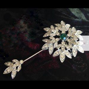 Sarah Coventry Crystal Snowflake Brooch & Stickpin